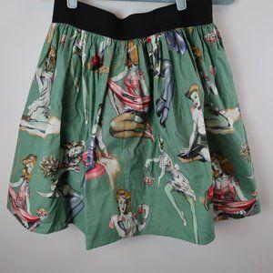 Hemet Zombie Vintage Pin up skirt Large